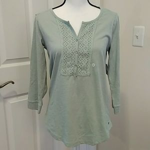 NWT Eddie Bauer Top 3/4 Sleeve Size Small